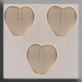 12272 - Channeled Heart Matte Smokey Topaz 8mm - 3 per pkg
